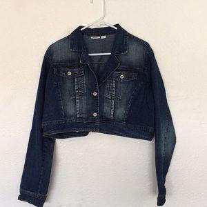Cato XL crop denim jean jacket